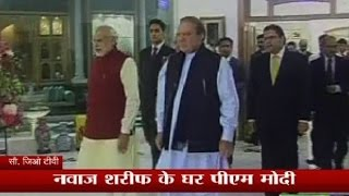 PM Modi reaches his Pakistan counterpart Nawaz Sharif's house