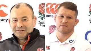 Eddie Jones & Dylan Hartley Pre-Match Press Conference - Scotland v England - Six Nations