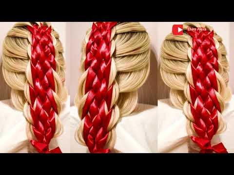 Коса из 6 прядей с лентами Trenza con cintas Бесплатный курс плетения кос