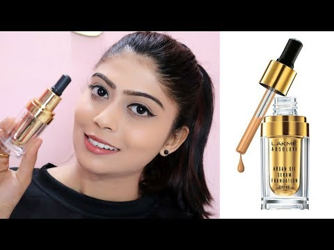 LAKME ABSOLUTE ARGAN OIL SERUM FOUNDATION REVIEW With SPF 45 | Rinkal Soni