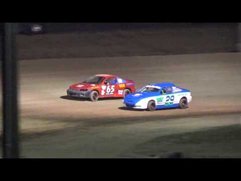 4 cylinder Heat race #3 at I-96 Speedway on 04-27-2018