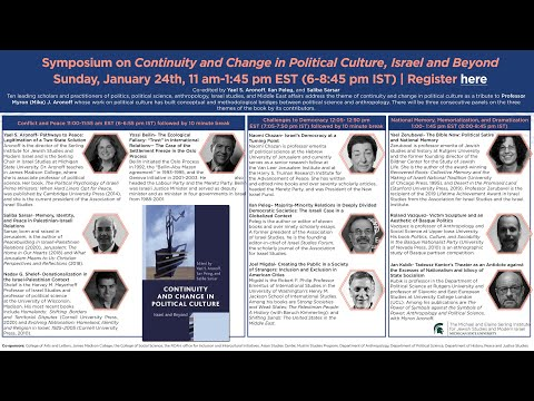 Symposium On Continuity And Change In Political Culture, Israel And Beyond
