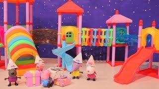 Peppa Pig Brinquedos - Festa de Aniversário do George e Muitas Brincadeiras -Brinquedonovelinhas