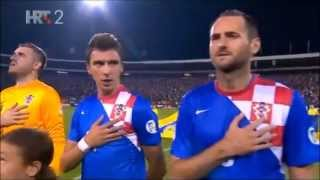 Serbia - Croatia (06.09.2013) National Anthems