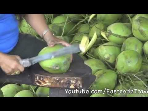 young coconut cutting  Thailand