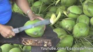 young coconut cutting  Thailand...