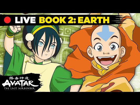 🔴 LIVE: Best of Avatar Book 2: Earth w/ Aang, Zuko, Toph, and MORE! 🏔   Avatar: The Last Airbender