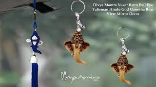 Divya Mantra Car Rear View Mirror Hanging Interior Decor Accessories