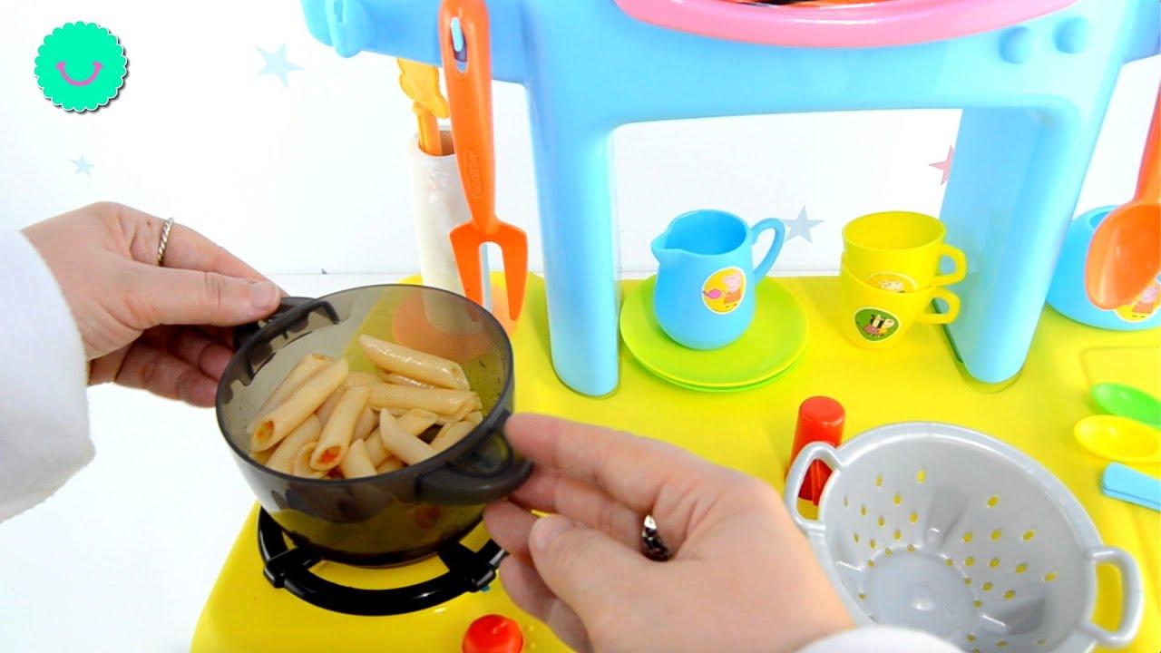 Cocinamos macarrones con la cocina de Peppa Pig para mis bebés Baby Alive