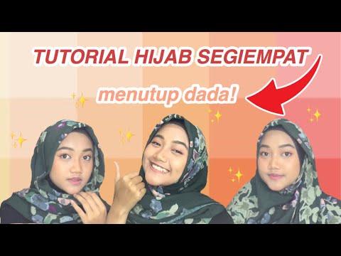 Video 6 Tutorial Hijab Segi Empat Praktis Bahan Paris