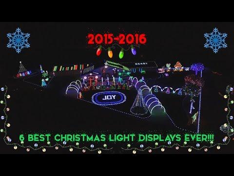 2015-2016 | 6 BEST CHRISTMAS LIGHT DISPLAYS EVER!!!