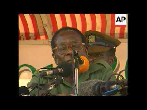 ZIMBABWE: MUGABE ELECTION RALLY