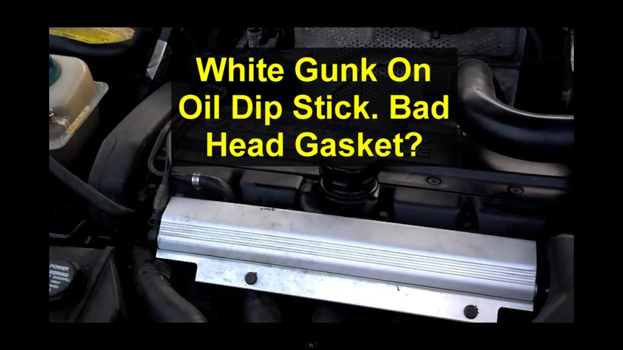 Milky creamy white gunk on oil dip stick. Is the head gasket blown