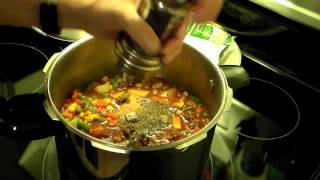 Pressure Cooker Hamburger Vegetable Soup
