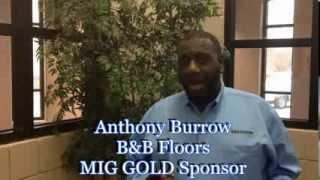 MIG Gold Sponsor- Anthony Burrow, B&B Floors.  Memphis Investors Group REIA
