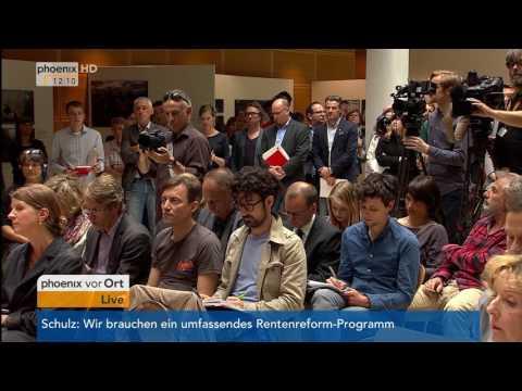 SPD-Rentenpolitik: Presskonferenz mit Martin Schulz und Andrea Nahles am 07.06.17