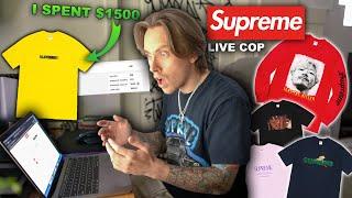 Supreme Website CRASHED! Supreme Motion Logo Live Cop!