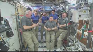 Expedition 48 Crew Hands Over the Space Station to Expedition 49