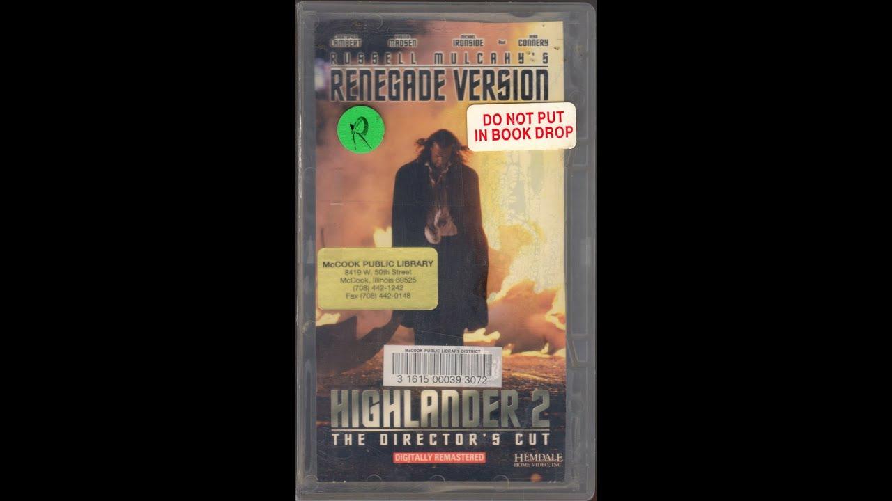 opening to highlander ii renegade version 1995 vhs youtube. Black Bedroom Furniture Sets. Home Design Ideas