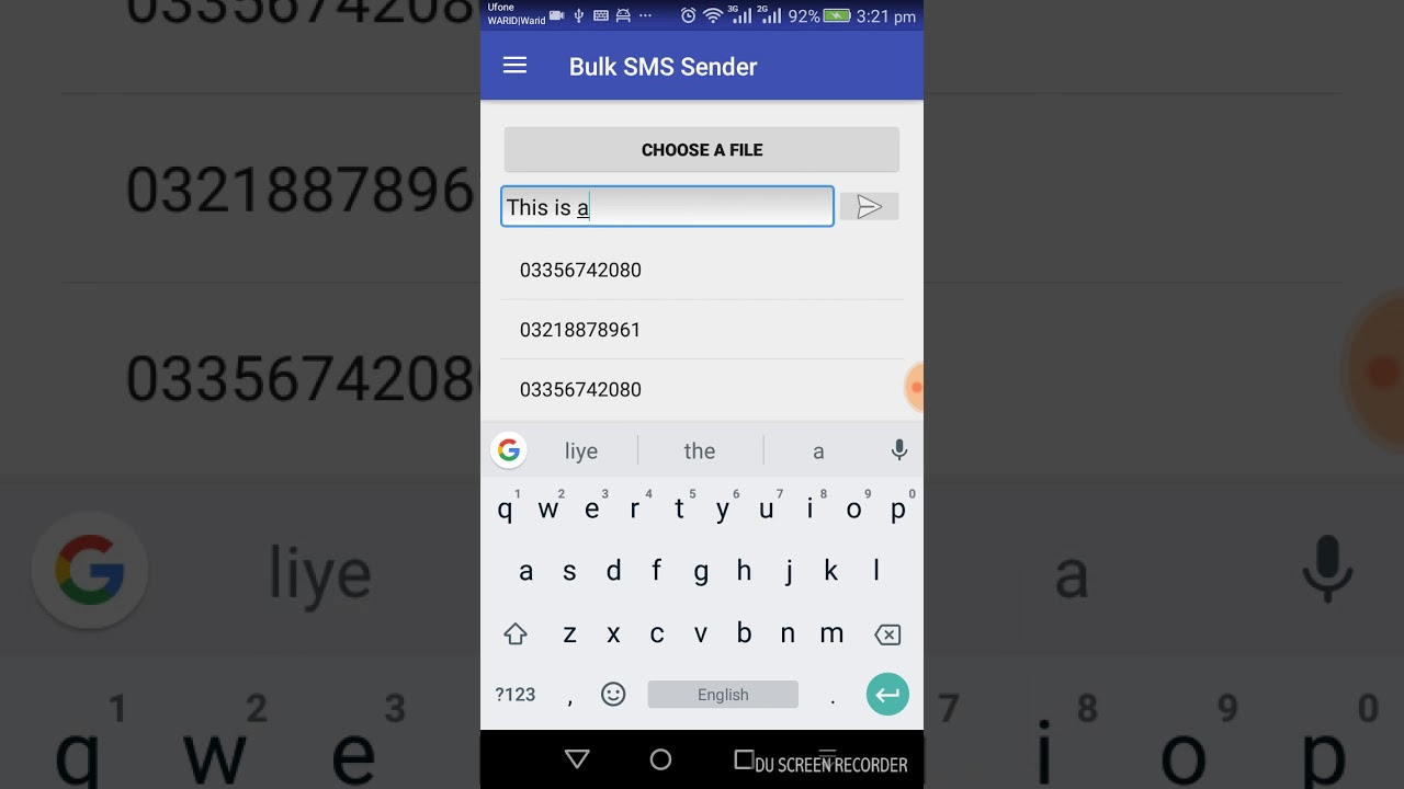 Open Source Bulk SMS Sender Android App - Coding Infinite