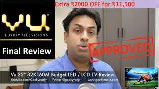 Vu 32D7545 Review and Vu 32K160M Review 32 inch LED TV