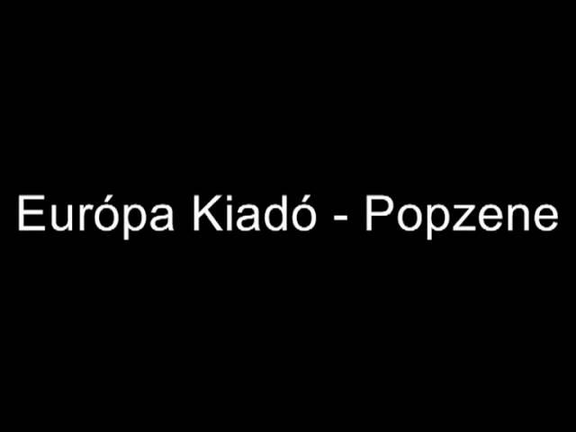 Európa Kiadó - Popzene