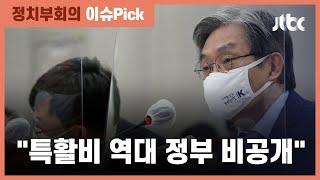 """청와대 특활비 검증 요구에 노영민 """"역대 정부 다 비공개"""" / JTBC 정치부회의"""
