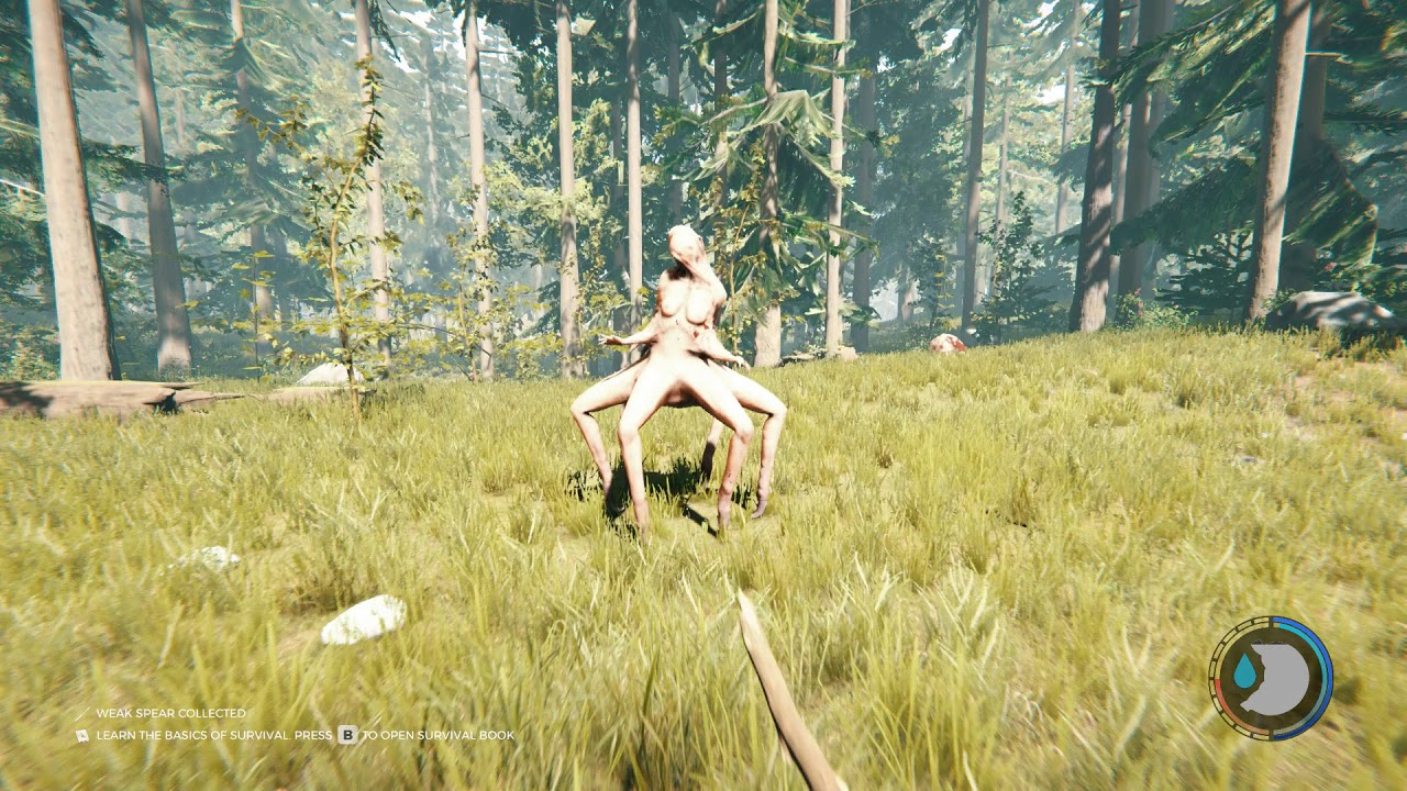 The Forest How To Kill Virginia Armsy Cowman Easy With A Weak Spear Youtube