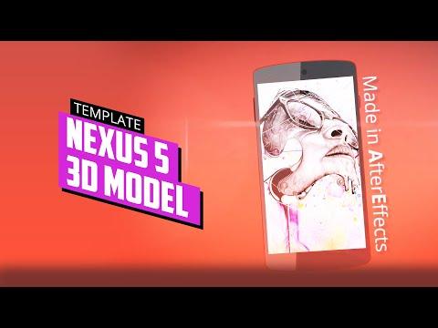 Nexus 5 3D Model After Effects Template
