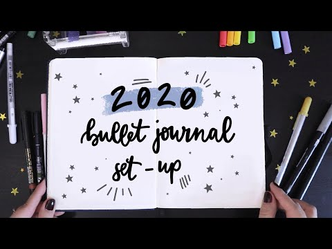 2020 Bullet Journal Set Up + January Plan With Me 💫