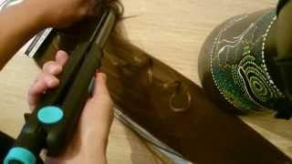 Как завивать термо волосы на заколках.