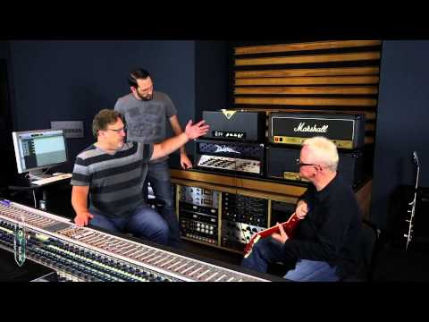Recording Electric Guitar Session 1 - Divided by 13 head. Ross Hogarth and Tim Pierce