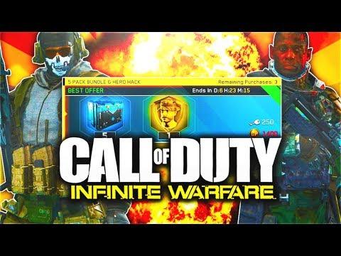 NEW HERO HACK in Infinite Warfare! (WORTH IT?!) - 5 PACK RARE SUPPLY DROP BUNDLE + ULTRA RARE EPICS!