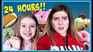 We Ate Only SWEET food for 24 Hours | Taylor & Vanessa