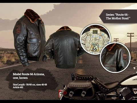 Кожаная куртка мужская Arizona brown (Airborne Apparel)