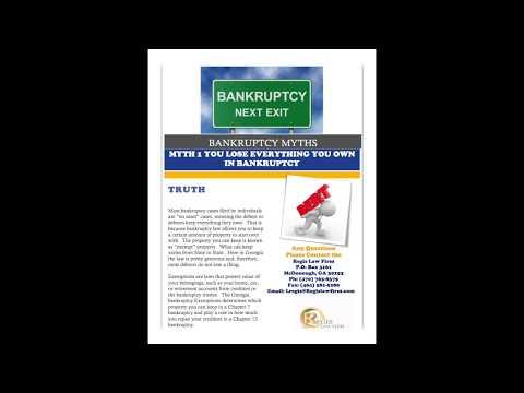 BANKRUPTCY MYTHS 1 & 2