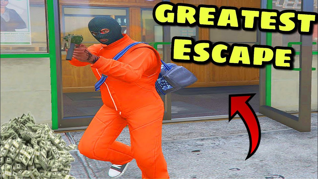 greatest Escape attempted by robber GTA V online new update mission