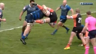 Ben Landry red card for spinebuster tackle on Hanco Germishuys