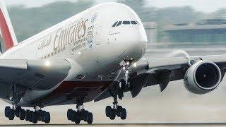 10 HEAVY LANDINGS and DEPARTURES - Airbus 380, Boeing 777 (4K)