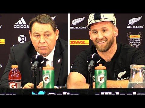 New Zealand vs Lions - Third Test - Steve Hansen & Kieran Read Full Post Match Press Conference