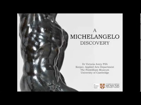 "Dr Victoria Avery  ""A Michelangelo Discovery"" Part 1, Lunchtime Talk"