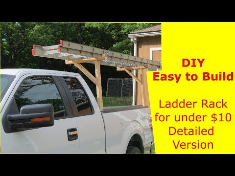 diy easy to build ladder rack for under 10 detailed version