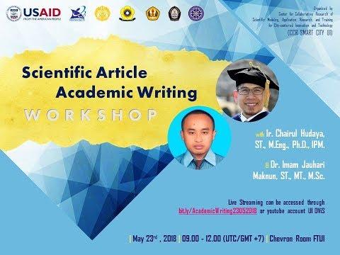 Scientific Article Academic Writing Workshop