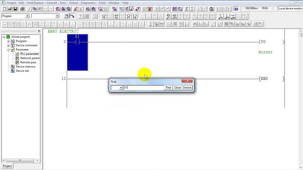 Tutorial Edit Program Online GX Developer PLC Mitsubishi Simulation