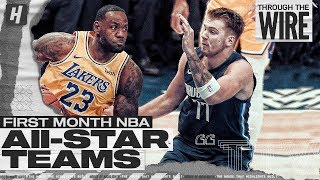 First Month NBA All Star Teams | Through The Wire Podcast