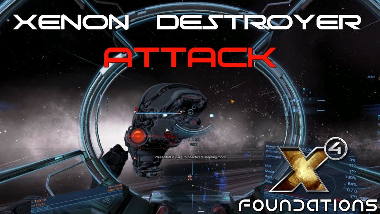 X4 Foundations Gameplay | Xenon Destroyer Attack