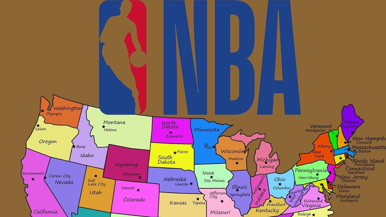 NBA Teams On A Map Quiz YouTube - Nba teams map