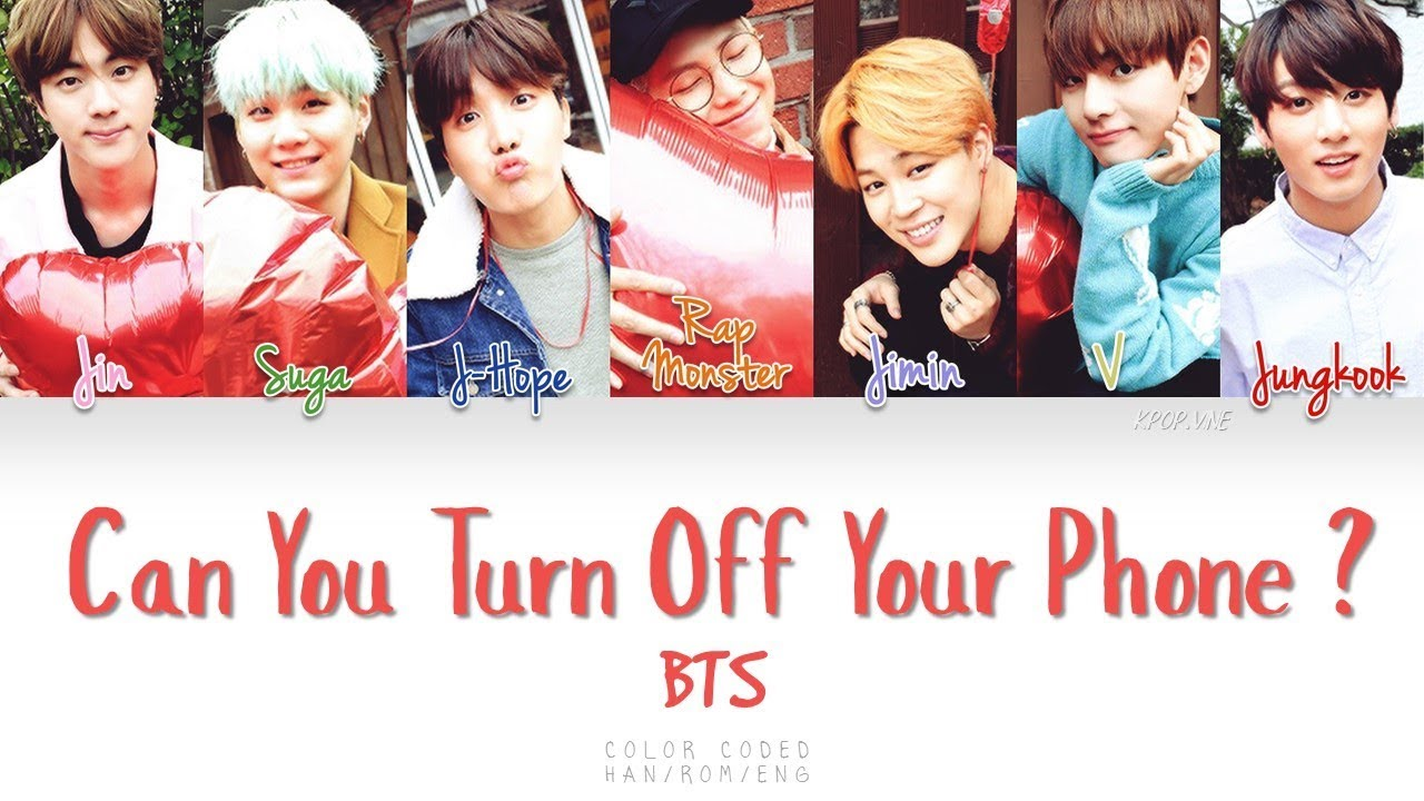BTS – Can You Turn Off Your Phone (핸드폰 좀 꺼줄래)