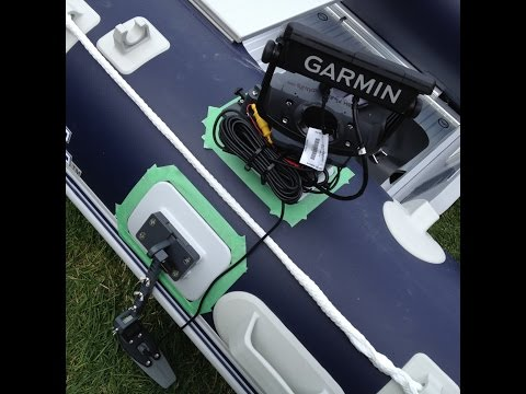 Glue On Fish Finder Mount for Inflatable Boats: How To Install Step by Step
