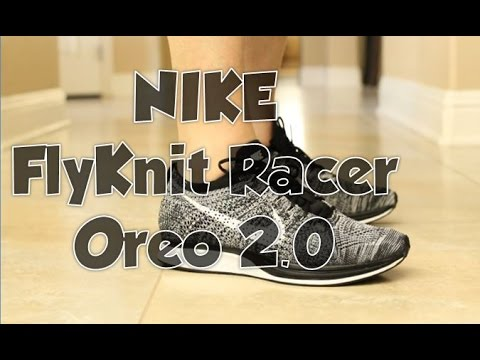 3d6aa8ce59e5 ... free shipping nike flyknit racer oreo 2.0 on feet youtube 00aa6 40563